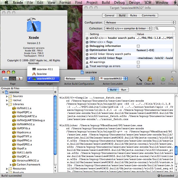 Xcode Plugin for Win32 c/c++ compiler